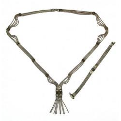 Stříbrný set náhrdelníku a...