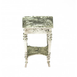 Miniaturní stříbrný stolek