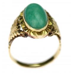 Zlatý prsten s amazonitem