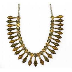 Stříbrný zlacený náhrdelník