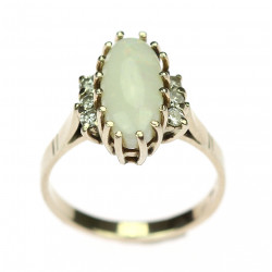 Zlatý prsten s opálem a...