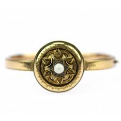 Zlatý náramek s perlou - empír