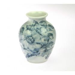Porcelain vase with blue...