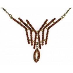 Stříbrný granátový náhrdelník