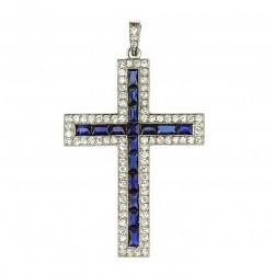 Art-deco kříž s diamanty a...