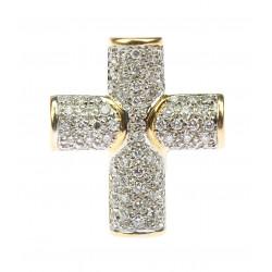 Zlatý křížek s brilianty