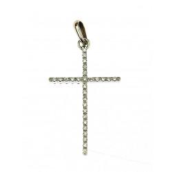 Golden cross with diamonds