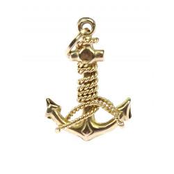 Gold pendant - anchor
