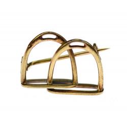 Gold brooch - stirrups