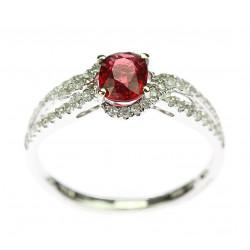 Zlatý prsten se spinelem a...