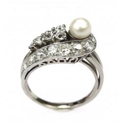 Gold diamond ring decorated...