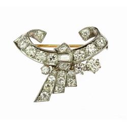 Diamantová brož - mašle