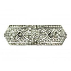Diamantová brož - Art-deco