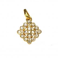 Gold pendant with diamond...