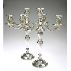 Stříbrné párové svícny -...