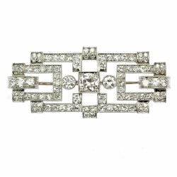 Art-deco diamantová brož