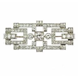 Art-deco diamond brooch