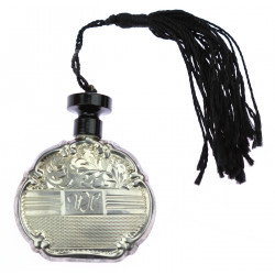 Silver parfume bottle