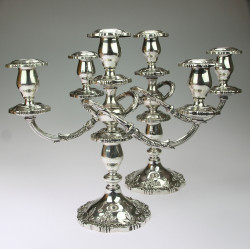 Silver pair of candlesticks