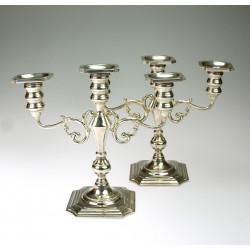 Párové stříbrné svícny