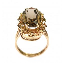 Zlatý prsten se záhnědou