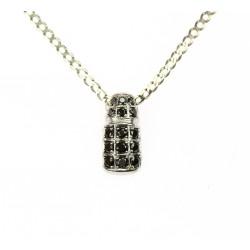 Zlatý náhrdelník s černými...