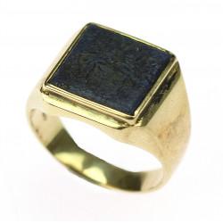 Zlatý prsten s lapisem lazuli