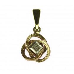 Zlatý přívěsek s diamantem