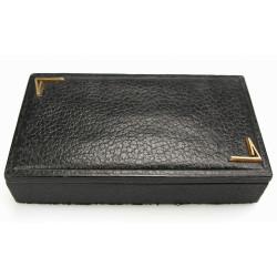 Dřevěná krabička potažená kůží