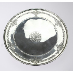 Silver table top for desserts