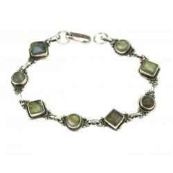 Silver bracelet with...