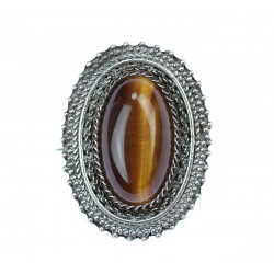 Silver brooch with a...