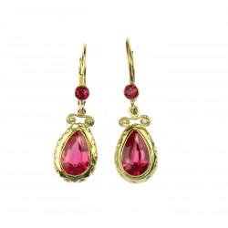 Art Nouveau earrings with...