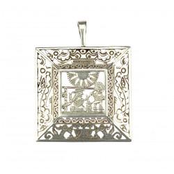 Silver mexican brooch