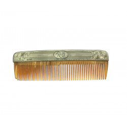Comb with silver mounting