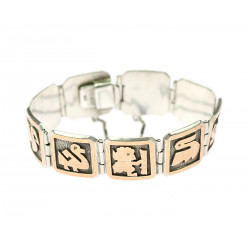 Silver mexican bracelet