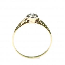Secesní zlatý prsten s...