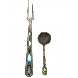 Silver russian cutlery