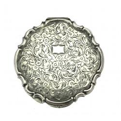 Silver powder box