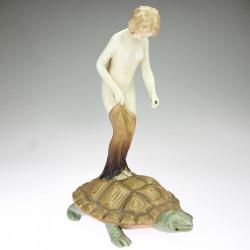 Ceramic statuette of a...