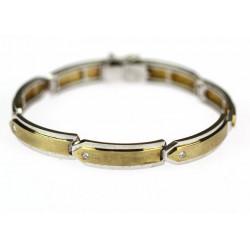 Zlatý náramek s diamanty -...