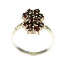 Silver ring with Bohemian...