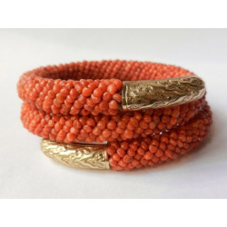 Gold Sea coral bracelet