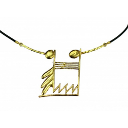 Gold note necklace