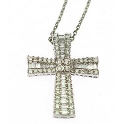 Zlatý křížek s diamanty na...