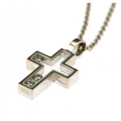 Zlatý křížek s diamanty -...