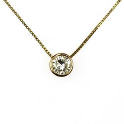 Zlatý řetízek s diamantem