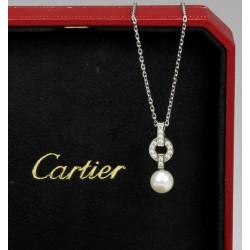 Zlatý koliér s perlou a...