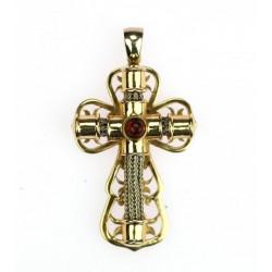 Zlatý křížek s granátem