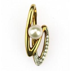 Přívěsek s perlou a diamanty